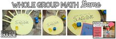 This whole group math game that focuses on composing and decomposing numbers & creating number sentences is always a class favorite! Great to incorporate into a weather unit! Weather Vocabulary, Weather Science, Weather Unit, Weather Activities, 1st Grade Centers, Word Work Centers, Kindergarten Centers, Activity Centers, Activity Games