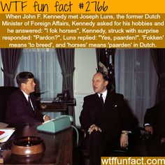 Does anybody know any facts about John F Kennedy?