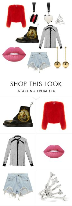 """""""Fur for Summer"""" by lovuee on Polyvore featuring Alexander McQueen, Yves Saint Laurent, Lime Crime, Chicnova Fashion, Kenneth Jay Lane, neon, sheer, ripped, fur and Lovuee"""