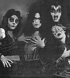 I wanna rock & roll all nite & party every day! superseventies: KISS in 1974 - with Paul Stanley in rare 'Bandit' makeup.