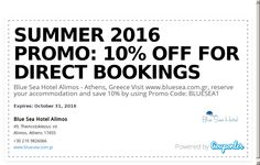 Blue Sea Hotel Alimos - Athens, Greece Visit www.bluesea.com.gr, reserve your accommodation and save 10% by using Promo Code: BLUESEA1 Commercial Center, Athens Greece, Summer 2016, Coding, Sea, Blue, The Ocean, Ocean, Programming