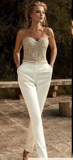 25 ΝΥΦΙΚΑ ΦΟΡΕΜΑΤΑ¨Fancy Jumpsuits. Strapless Dress Formal, Formal Dresses, Fashion, Dresses For Formal, Moda, Fasion, Gowns, Formal Wear, Formal Gowns