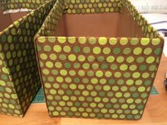 Monkey Business: Fabric covered boxes