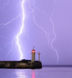 lightning and lighthouse