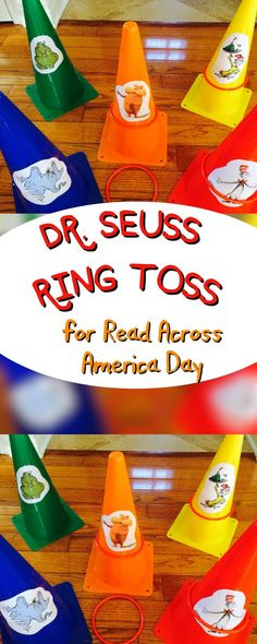 Seuss Party Games for Read Across America: Easy Ring Toss - Dr. Seuss Party Games for Read Across America: Easy Ring Toss The Jersey Momma: Dr. Seuss Party Games for Read Across America: Easy Ring Toss Dr. Seuss, Dr Seuss Lorax, Dr Seuss Game, Dr Seuss Week, Holiday Party Games, Kids Party Games, Fun Games, Halloween Party, Ring Toss