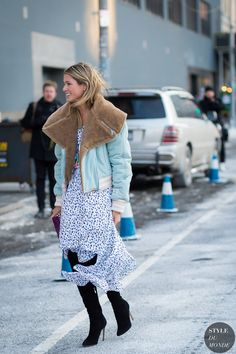 New York Fashion Week FW 2015 Street Style: Helena Bordon