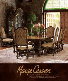Tuscan dining room...love it