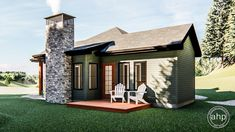 Plan Tiny House or Vacation Getaway Narrow Lot House Plans, Tiny House Plans, Mountain House Plans, Mountain Houses, Tiny House Exterior, Compact House, Best Tiny House, Cabin In The Woods, Open Layout