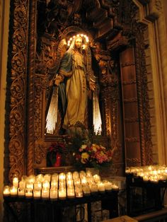 iheartbeingacatholic:  Our Blessed Mother, St. Vincent Parish, Los Angeles   I'm not religious at all, but I've always loved religious icons.