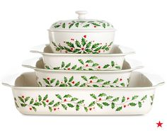 Christmas dinner is served — with a stylish side of festive flair! Shop the Lenox Holiday bakeware collection now