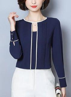 Køb Skjorter, Online Butik, Kvinders Mode Skjorter for Salg Fall Fashion Outfits, Mode Outfits, Fashion Dresses, Fashion Shirts, Womens Fashion, Classy Dress, Classy Outfits, Blouse Styles, Blouse Designs