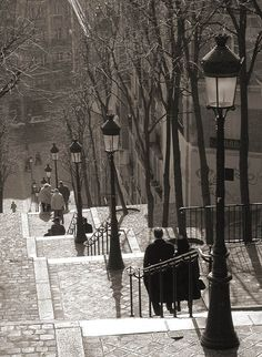 L'escalier de Paris - near where we stayed on our first trip there together. In this lifetime.
