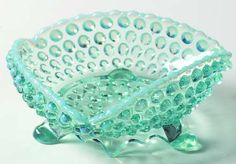 Beatty glass co. | BEATTY GLASS CO OVERALL HOBNAIL-BLUE OPALESCENT at Replacements, Ltd