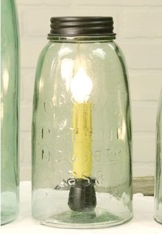 Half Gallon Mason Jar Lamp