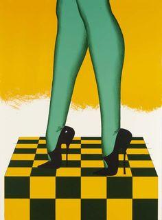 Allen Jones 'A new Perspective' Poster Allen Jones, Modern Art, Contemporary Art, Pop Art, Cat Magazine, Purple Gloves, Mass Culture, Art Through The Ages, Arte Pop