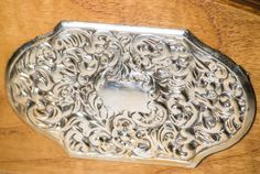 Vintage Italian letter rack with 925 silver by TouchstoneVintage