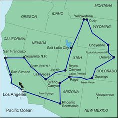 Western Usa State Parks Map NATIONALPARKSANDCANYON - Map western us national parks