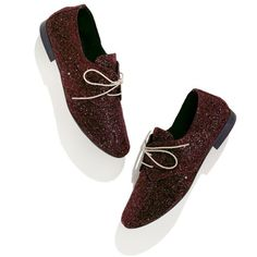 MADEWELL Anniel® Glitter Oxfords ($130) ❤ liked on Polyvore