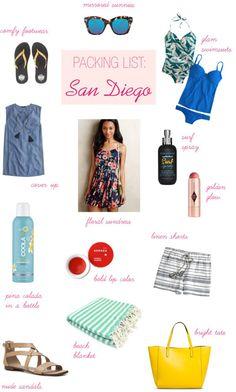 Packing List: Weekend in San Diego #travel #sandiego #beachvacation