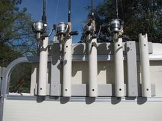 Homemade Rod Holders for Pontoon Boats: 13 Best & Worst Ideas Pvc Rod Holder, Diy Fishing Rod Holder, Boat Rod Holders, Fishing Storage, Kayak Fishing, Fishing Boats, Saltwater Fishing, Fishing Stuff, Fishing Tips