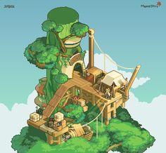 """조각 on Twitter: """"#pixelart #isometric #maplestory  Ellinia Ellinia Station… """" Isometric Drawing, Isometric Design, Classic Rpg, 8bit Art, Cat City, Environment Concept Art, Environmental Art, Video Game Art, Game Design"""