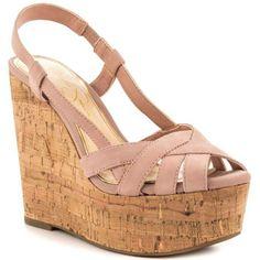 JESSICA SIMPSON Westt Cork Wedge Sandals - $60