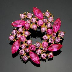So bright color, #Rhinestone #Brooch, more colors for choice.