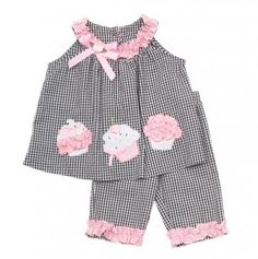 Striped Cupcake Baby Outfit.