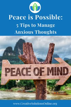 Few things can destroy a sense of peace better than worry and anxiety. If you struggle with anxious thoughts and feelings, you understand the havoc anxiety can wreak on everyday life. Anxiety Tips, Stress And Anxiety, Ptsd Awareness, Unhealthy Diet, Anxiety Treatment, Negative Thinking, Coping Mechanisms, Thoughts And Feelings, Feeling Overwhelmed