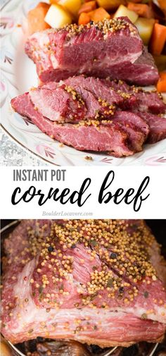 Instant Pot Corned Beef Brisket is an easy and fast recipe Instant Pot Corned Beef Brisket with Vegetables is an easy recipe for a one pot meal anytime. Cooked in beer, the corned beef is tender and moist. Great for St. Patrick's Day! Cooking Corned Beef Brisket, Corn Beef Brisket Recipe, Beef Brisket Crock Pot, Homemade Corned Beef, Corned Beef Recipes, Roast Beef, Beef Recipe Instant Pot, Instant Pot Dinner Recipes, Instapot Recipes Chicken