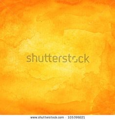 Orange abstract watercolor macro texture background. Colorful handmade technique aquarelle. by vector illustration, via ShutterStock