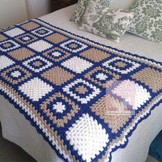 This Pin was discovered by Nur Crochet Afghans, Crochet Ripple Blanket, Crochet Bedspread, Crochet Quilt, Crochet Blocks, Afghan Crochet Patterns, Granny Square Häkelanleitung, Granny Square Crochet Pattern, Crochet Squares