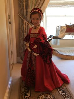 Little Girl's Tudor Child Red Gown. | Tudor Costume