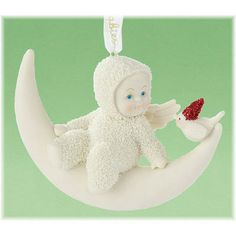 Meet Me On The Moon Snowbaby Ornament