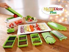 Nicer Dicer Plus Pratik Dilimleyici Doğrayıcı Kitchen Helper, Buy Kitchen, Kitchen Items, Kitchen Gadgets, Cooking Tools, Cooking Time, Genius Nicer Dicer Plus, Nicer Dicer Fusion, Cubes
