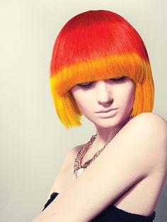 http://www.esteticamagazine.com Hair: Audrey Adrine Petrosyan, Sophia Kalsatos Valvano, and Dante Perrone  Photo: Alex Evans  Make-up: Clarissa Pupo  Color: Goldwell Elumen.  Styling products: L'Oréal Professionnel