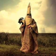 Mothmeister ceate Wounderland -We portray anonymous, ugly masked creatures as a reaction against the dominant exhibitionism of the selfie culture and beauty standards marketed by the mass media. art photography print NO. 054*