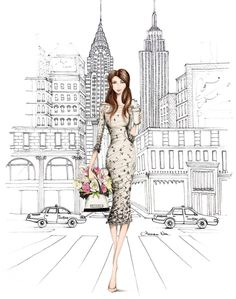 New York! @alexandra_nea #FashionIllustrations  Be Inspirational ❥ Mz. Manerz: Being well dressed is a beautiful form of confidence, happiness & politeness