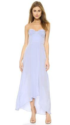 Zimmermann Платье без бретелек на косточках