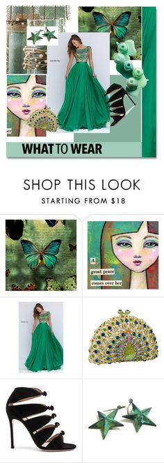 """""""Untitled #211"""" by jillsjoyagol ❤ liked on Polyvore featuring Sherri Hill, Gianvito Rossi and New View"""