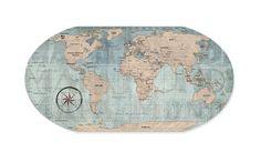 Mural Mapa Mundi Vintage