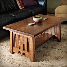 Mission Coffee Table Woodworking Plan by Woodworker's Journal