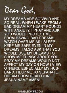 Prayer: No More Bad Dreams ---