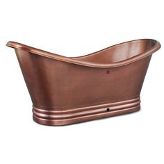 The Euclid pure, solid copper bathtub will instantly transform your bathroom. When paired with a copper sink, the combination is breathtaking.