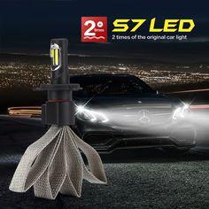 9004 9007 H4 H13 COB Led Headlight Hi-Lo Beam Fog Lamp 6000K Pure White 8000LM For 12V 24V Vehicles Dual Beam Leds By Katur Bulb