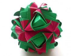圣诞节圣诞红纸球花式灯笼组合折纸手工DIY教程