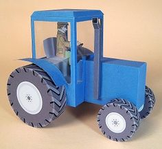 CARD MAKING TEMPLATES FOR TRACTOR & DISPLAY BOX