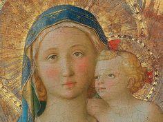 Fra Angelico  (Vicchio di Mugello, ca. 1395 - Rome, 1455), Madonna of Pontassieve. Uffizi Gallery in Florence.