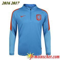 Le Nouveau:Sweatshirt Training de Pays-Bas Bleu 2016 2017 fr-moinscher