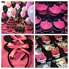 Madilyn's Minnie Mouse themed birthday